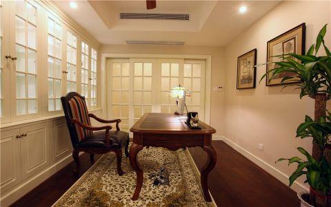 书房推拉门美式风格装饰设计图片