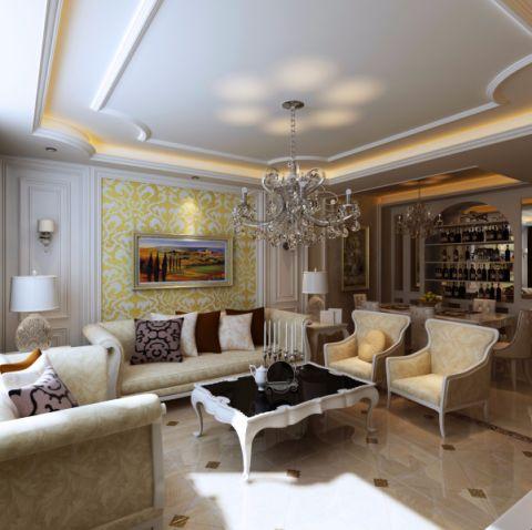 欧式风格166平米3房2厅房子装饰效果图