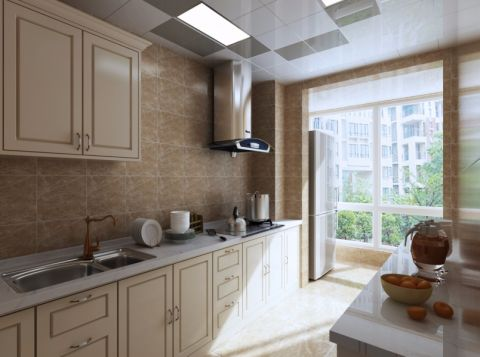 厨房吊顶欧式风格装修图片