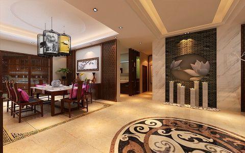 客厅隔断中式风格装潢图片
