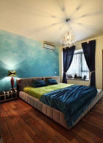 卧室背景墙混搭风格装修效果图
