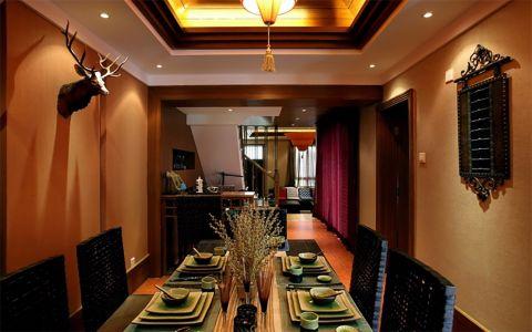 东南亚风格104平米3房2厅房子装饰效果图
