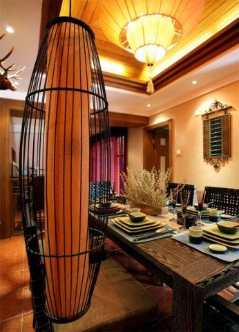 餐厅餐桌东南亚风格装潢图片