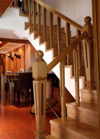 餐厅楼梯东南亚风格装修设计图片