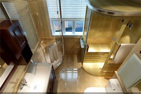 卫生间窗帘新中式风格效果图