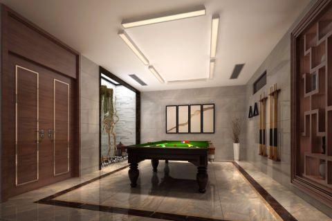 客厅博古架新中式风格装潢图片