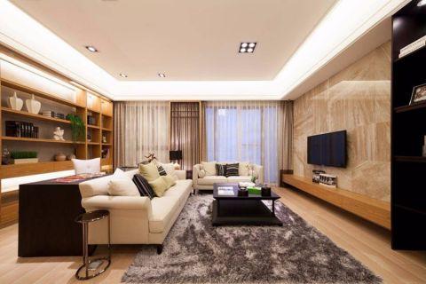 日式风格113平米三房两厅新房装修效果图