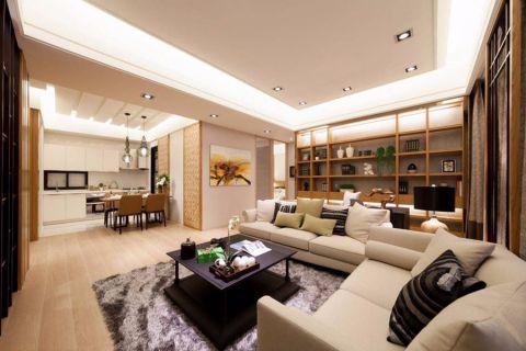 客厅博古架日式风格装修效果图