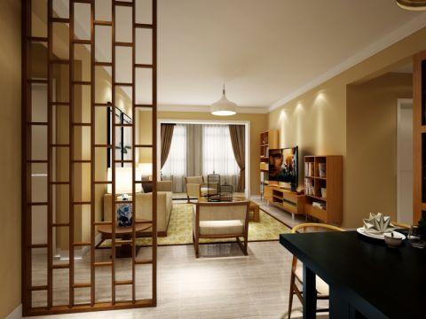 中式风格125平米四房两厅新房装修效果图