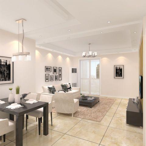 简约风格94平米3房2厅房子装饰效果图