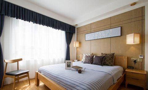 卧室窗帘日式风格装修设计图片