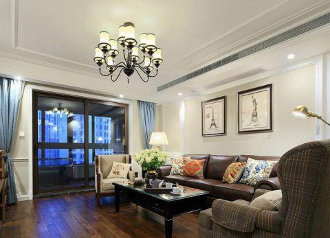 美式风格110平米2房2厅房子装饰效果图