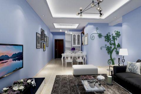 绿地21世纪城现代简约二居室装修实景图