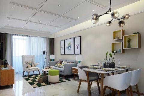 兰陵景轩北欧风格三居室效果图