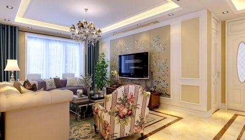 美式风格150平米四房两厅新房装修效果图