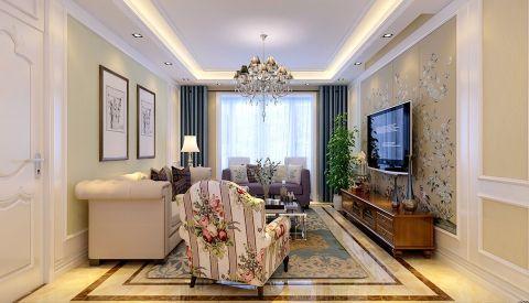客厅电视柜美式风格装饰效果图