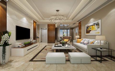 世贸东一号现代简约三居室装修实景图