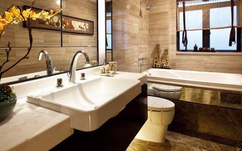 卫生间背景墙新古典风格装修效果图