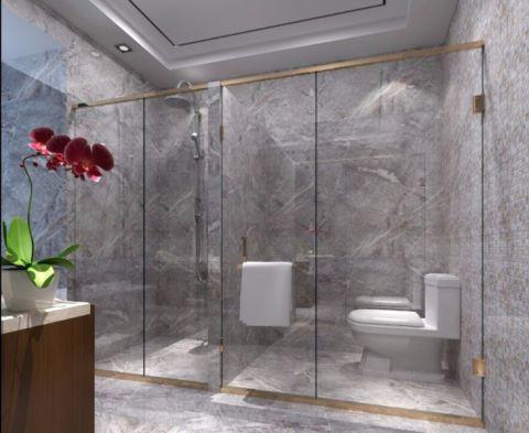 卫生间背景墙新中式风格装饰效果图