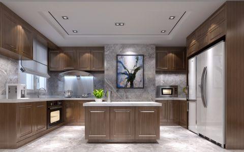 厨房吊顶新中式风格装潢效果图