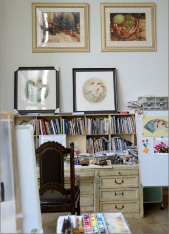 书房照片墙简约风格装饰设计图片