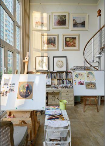 书房地板砖简约风格装潢设计图片