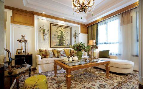 客厅吊顶混搭风格装潢图片
