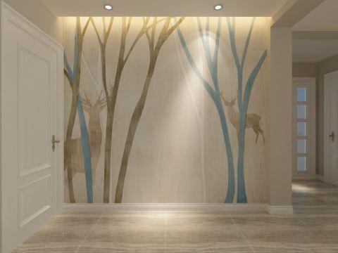 玄关背景墙北欧风格装饰设计图片