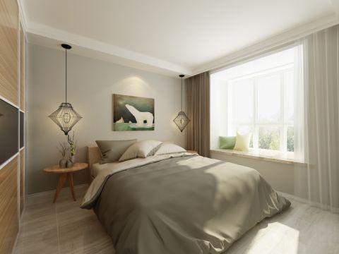 卧室飘窗北欧风格装饰效果图