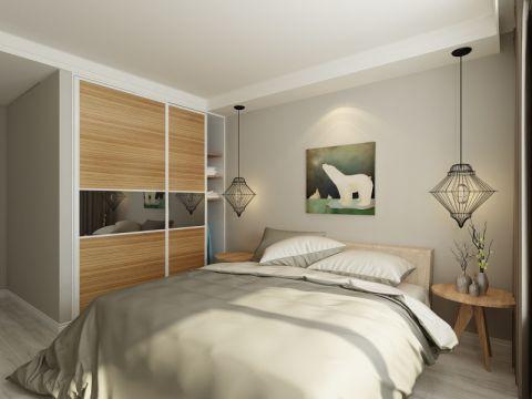 卧室衣柜北欧风格装潢效果图