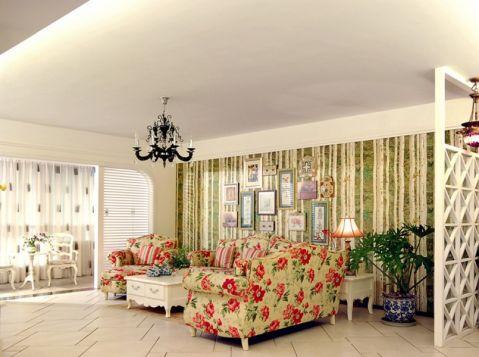 田园风格100平米2房2厅房子装饰效果图