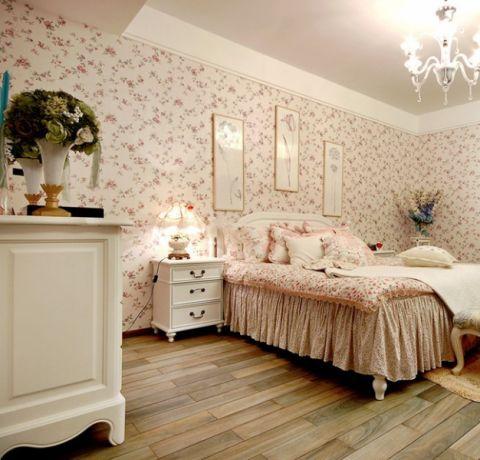 卧室背景墙田园风格效果图