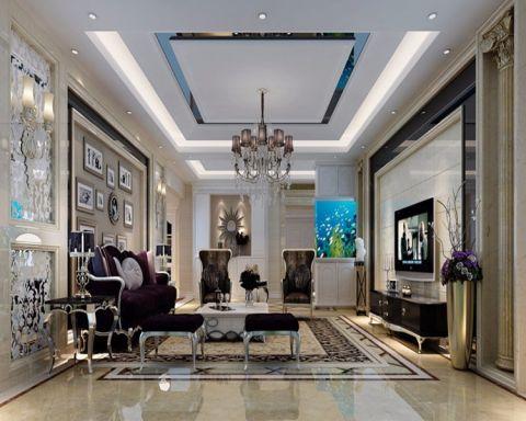 新古典风格110平米3房2厅房子装饰效果图