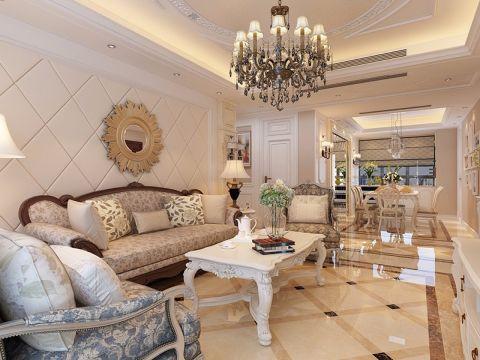 美式风格130平米3房2厅房子装饰效果图