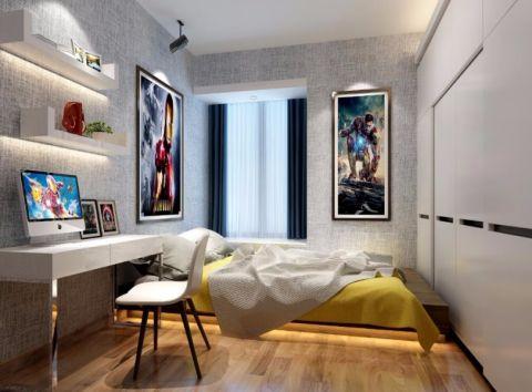 卧室书桌现代风格装饰设计图片