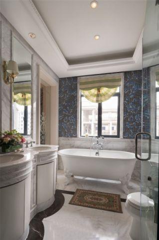 卫生间窗帘法式风格装潢效果图
