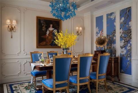 餐厅吊顶法式风格装修设计图片