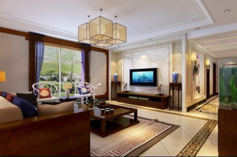 新中式风格150平米4房2厅房子装饰效果图