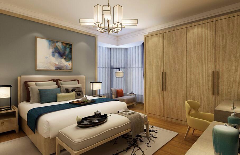3室1卫1厅100平米新中式风格
