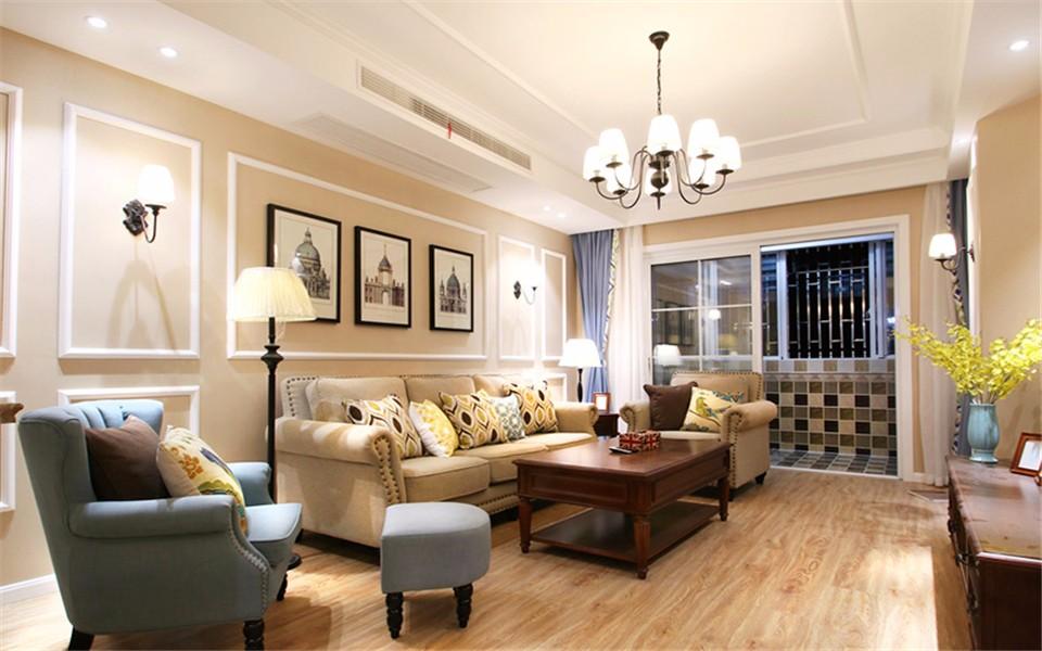 2室1卫2厅107平米美式风格