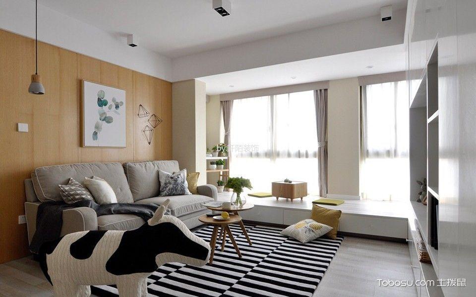 客厅 飘窗_现代风格134平米三房两厅新房装修效果图