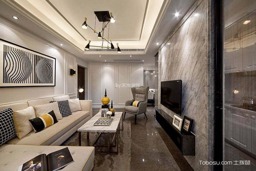 简约风格110平米2房2厅房子装饰效果图