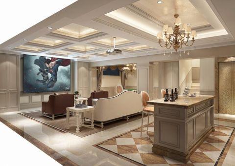 客厅吊顶法式风格装饰图片