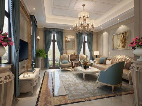 法式风格300平米别墅新房装修效果图