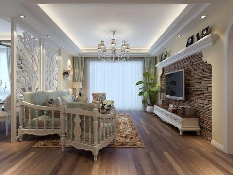 欧式风格114平米4房2厅房子装饰效果图