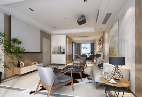 现代简约风格160平米套房房子装饰效果图