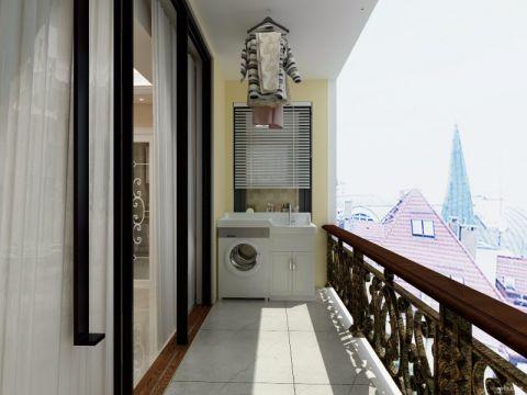 阳台推拉门后现代风格装修图片