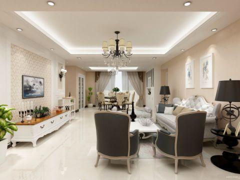 客厅灯具后现代风格装饰效果图