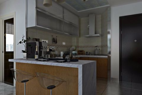 厨房吧台简约风格装潢效果图