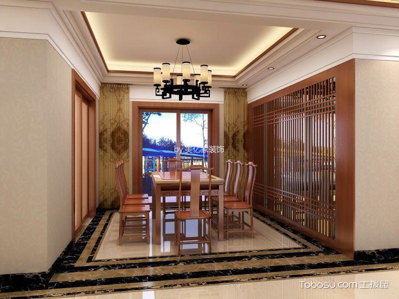 佳兆业180平中式风格装修效果图 客厅 餐厅 背景墙 卧室
